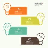 Vergelijkende grafiek met malplaatjes voor presentatie Royalty-vrije Stock Fotografie