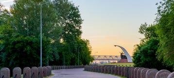 Verger complexe commémoratif de Kumzhenskaya en l'honneur des soldats tombés de l'armée rouge libérant Rostov-On-Don en 1941 et 1 images stock