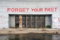 Vergessen Sie Ihre Vergangenheit Stockfotos