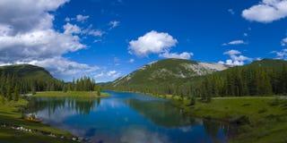Vergessen Sie mich nicht Teich-Panorama Lizenzfreies Stockfoto