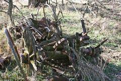 Vergessenes Bauernhof-Werkzeug Stockbild