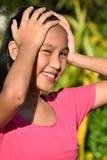 Vergessliche asiatische Mädchen-Jugend lizenzfreie stockfotos