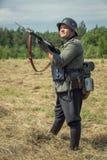 Vergeten prestatie Het de lijn militaire historische weer invoeren van Stalin royalty-vrije stock foto