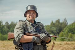 Vergeten prestatie Het de lijn militaire historische weer invoeren van Stalin stock foto's