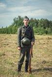 Vergeten prestatie Het de lijn militaire historische weer invoeren van Stalin royalty-vrije stock afbeeldingen