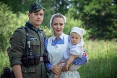 Vergeten prestatie Het de lijn militaire historische weer invoeren van Stalin stock foto