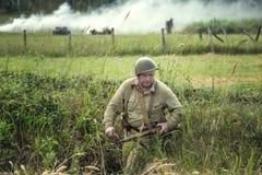Vergeten prestatie Het de lijn militaire historische weer invoeren van Stalin stock afbeeldingen