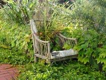 Vergeten tuin stoel-Wellington-nieuw Zeeland Stock Foto