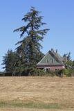 Övergett lantbrukarhem och land Royaltyfri Bild
