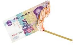 Vergeudetes Geld Stockfoto
