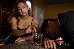 Vergewaltigung nach einem Rendevous Lizenzfreies Stockbild