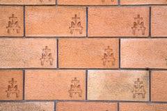 vergiate瓦雷泽意大利老教会墙壁  库存照片