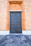 Vergiate italy   church  varese  the old door Stock Images
