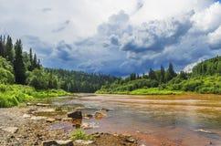Vergifteter Fluss Vilva Stockfotos