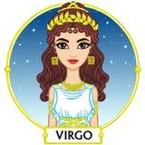 Vergine del segno dello zodiaco Fotografia Stock