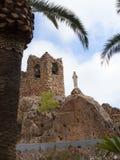 Vergine della chiesa della roccia a Mijas una di villaggi 'bianchi' più bei Immagine Stock Libera da Diritti