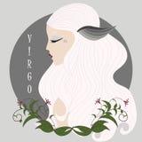 Vergine della ragazza dello zodiaco Immagini Stock