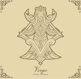 Vergine dello zodiaco Immagini Stock Libere da Diritti