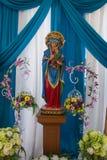 Vergine Maria benedetto con il bambino Gesù immagine stock