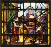 Vergine Maria con i suoi genitori, St Anne e st Joachim fotografie stock libere da diritti