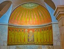 Vergine Maria e gli apostoli Fotografia Stock