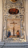 Vergine Maria e St John nell'ambito dell'incrocio Fotografia Stock