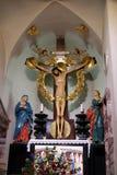 Vergine Maria e St John nell'ambito dell'incrocio Immagine Stock Libera da Diritti