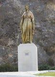 Vergine Mary Golden Statue vicino a Ephesus Fotografie Stock Libere da Diritti