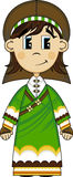 Vergine Mary Nativity Biblical Cartoon Character Immagini Stock Libere da Diritti