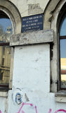 Vergipsen Sie madonna und Kind, Bukarest und getötete die gedenken lizenzfreie stockfotografie