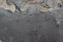 Vergipste Wand mit Bürstenanschlägen Stockbilder