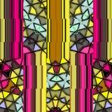 Vergittern Sie abstraktes Muster in der Grenadine und Gelb in den kitschigen Farben lizenzfreie abbildung