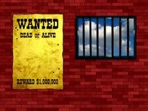 Vergittertes Gefängnisfenster stock abbildung