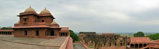 Övergiven gammal stad Fatehpur Sikri nära Agra, Indien Arkivfoton