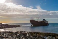 övergiven ship Arkivfoton