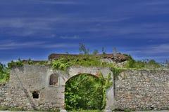 Övergivna italienska lantbrukarhemväggar 1 Fotografering för Bildbyråer