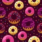 Verglaasd donuts patroon vector illustratie