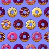 Verglaasd donuts patroon Stock Foto's