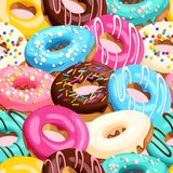 Verglaasde donuts naadloos Royalty-vrije Stock Foto's