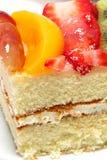 Verglaasde Fruit Bedekte Cake royalty-vrije stock afbeeldingen