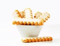 Verglaasde koekjes Stock Afbeelding