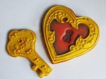 Verglaasde reeks koekjes voor Valentijnskaartendag Stock Afbeeldingen