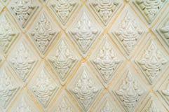Verglaasde tegel traditionele Thaise kunst van kerk in tempel Royalty-vrije Stock Fotografie