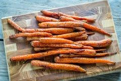 Verglaasde wortelen Stock Fotografie