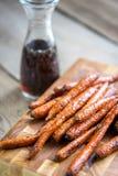 Verglaasde wortelen Stock Foto's