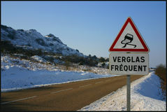 Verglas Frequent. Snow covered hills and countrside, brittany royalty free stock images