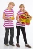 Vergleichen der Geschenke Stockbild