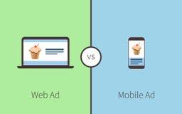 Vergleichen der Werbung Lizenzfreies Stockbild