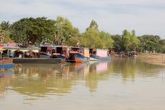 Vergnügens-Boote, Tonle Sap See, Kambodscha Lizenzfreie Stockfotografie