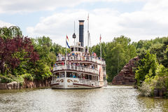 Vergnügensschiff Molly Brown bei Disneyland Paris Stockbild